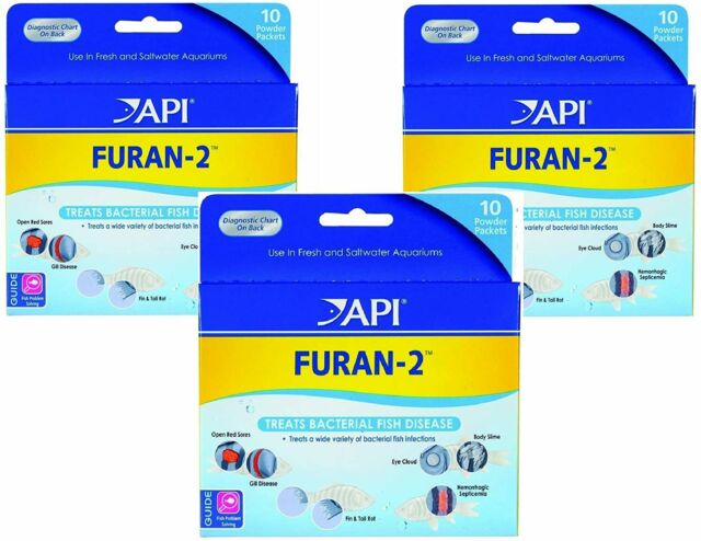 (3 Pack) API Furan-2 Powder, 10 Packets each