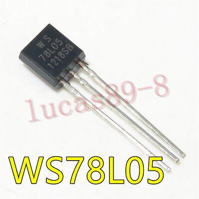 10PCS WS78L05 78L05 WS TO-92 IC REG LDO 5V .1A NEW GOOD QUALITY