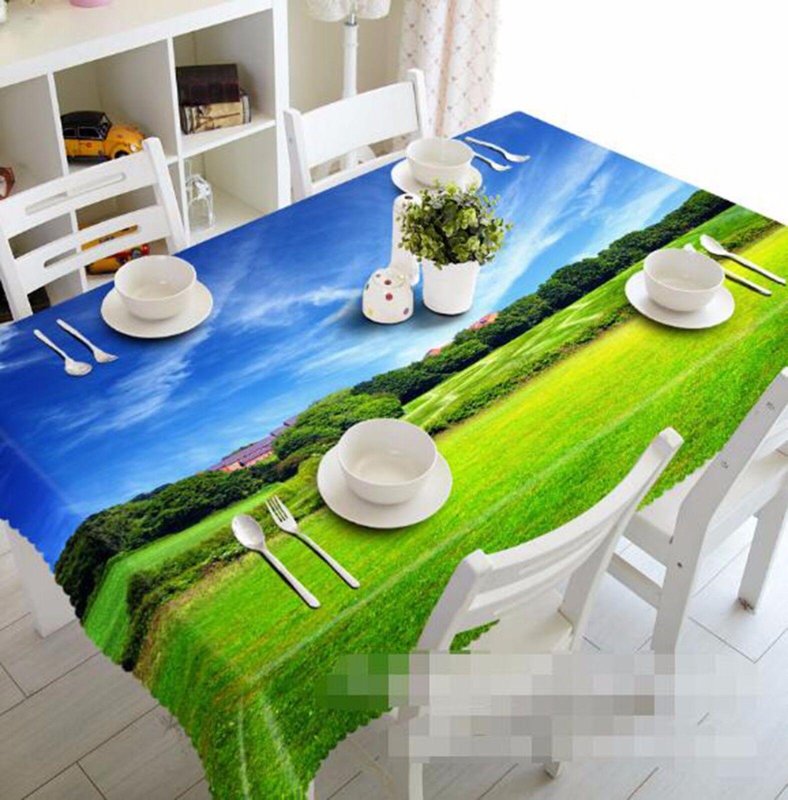 3D Meadow 62 Nappe Table Cover Cloth fête d'anniversaire AJ papier peint Royaume-Uni Citron