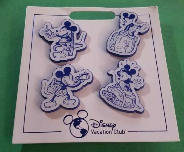 Disney Parks Vacation Club Member Patch Set of 4 Mickey Mouse Resorts DVC NEW