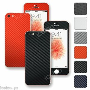 For-iPhone-SE-3D-Textured-CARBON-Fibre-Decal-Wrap-Sticker-Skin