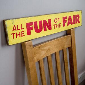Vintage Helter Skelter Sign Funfair Sign Retro Fairground Sign Reproduction Sign