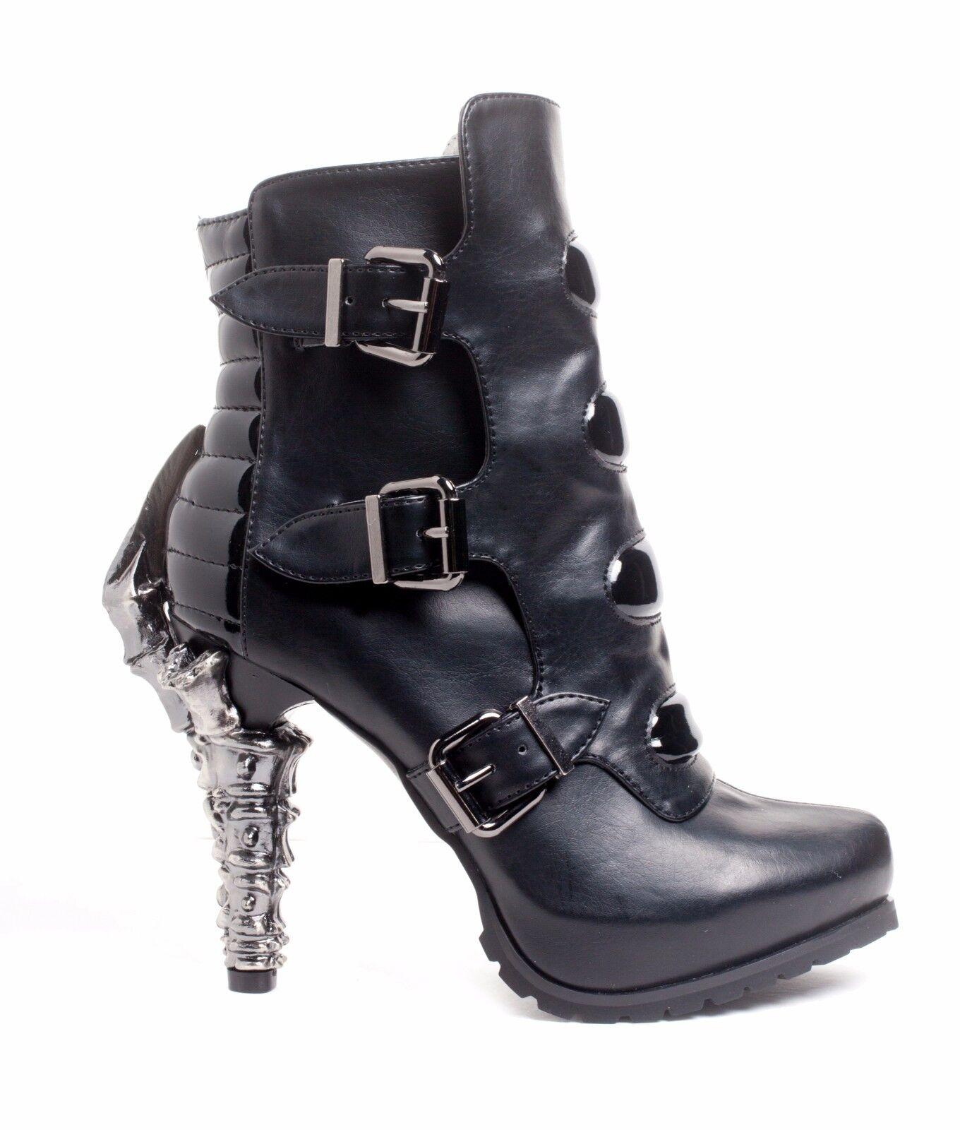 Hades NEO Steampunk Cyber Talon Claw Heel Alternative Goth Ankle Bootie Boots
