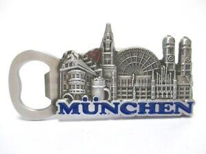 Muenchen-Frauenkirche-Metall-Flaschenoeffner-Magnet-9-5-cm-Souvenir-Germany
