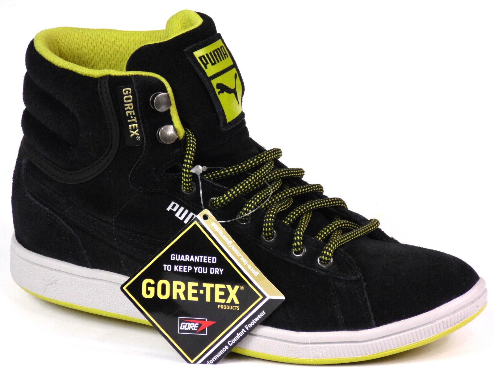 PUMA First Round Super GTX Gore Tex schwarz WTR Leder NP_ NEU schwarz Tex Sneaker Schuhe 3c6afc