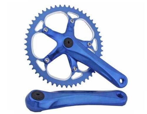 BICYCLE CRANK SET SILVER 52T X 175MM CRUISER BMX MTB CYCLING