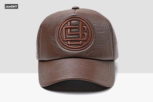Fashion Basecap Coole Mütze Unisex Must-Have Vintage Baseball PU VIP Kunst Leder