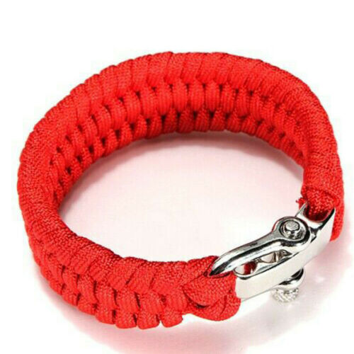 Paracord Parachute Rope Bracelet Wristband Survival Camping Hiking Climbing