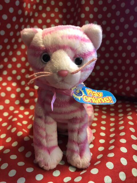 Ty Beanie Babies 2.0 Purry. No Tags Or Code. Pink And White Cat/kitten.