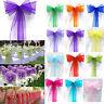 25/50/100 PCS Organza Chair Cover Sash Bow Wedding Party Reception Banquet Decor