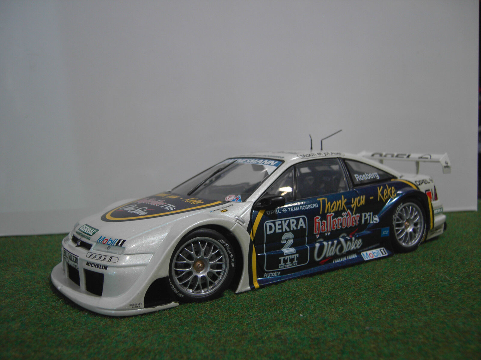OPEL CALIBRA V6 4x4 DTM Rosberg thank you Keke UT MODELS 1 18 voiture miniature