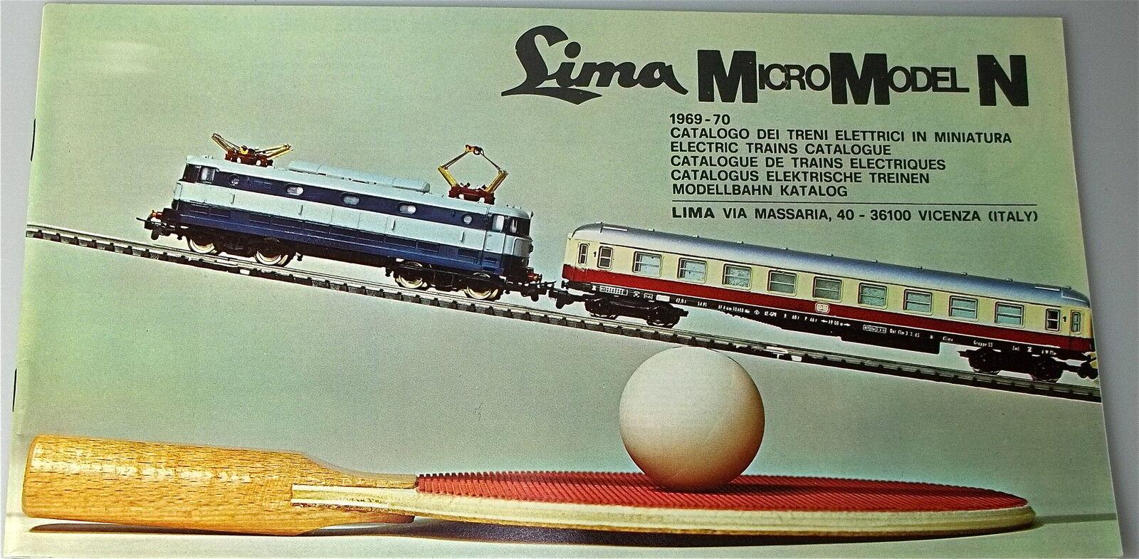 LIMA MicroModel N KATALOG 1969 1970 Å