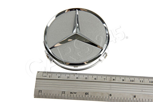 Genuine Wheel Center Hub Cap Star Silver Chrome Cover MERCEDES B66470202
