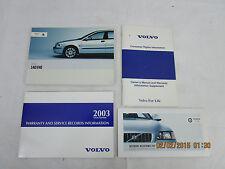 2003 - 03  VOLVO S40/V40  USER OWNER MANUAL HANDBOOK GUIDE INFORMATION BOOK