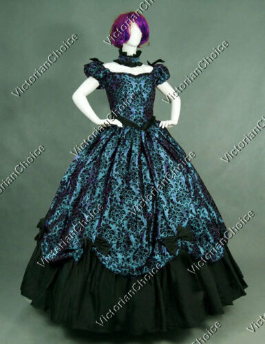 1840-1850s Dickens Victorian Costuming for Women    Southern Belle Victorian Masquerade Vampire Gown Theatre Halloween Costume 323 $139.00 AT vintagedancer.com