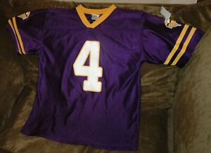 the latest 0fbab 1046d Details about Brett Favre jersey! Minnesota Vikings youth large 14-16 NFL  purple throwback