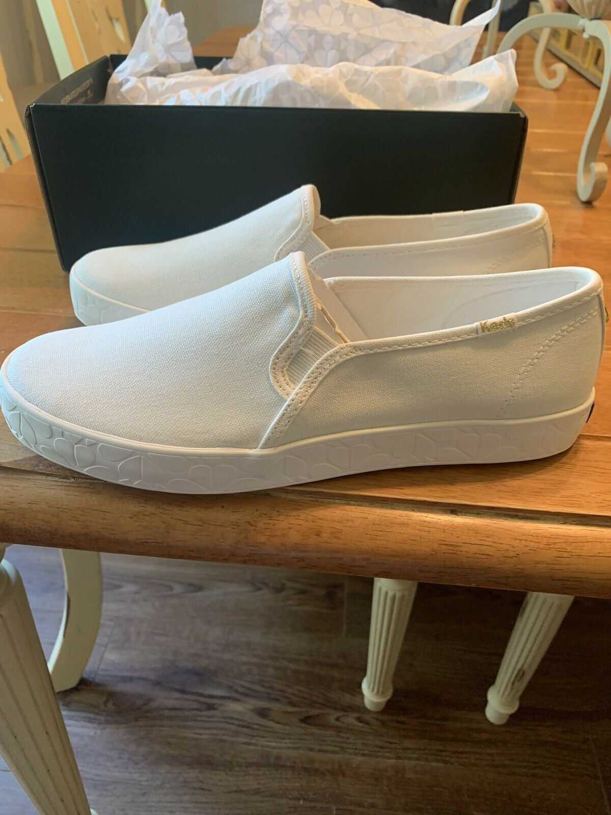 kate spade x platform white Shoes With Heart Soles