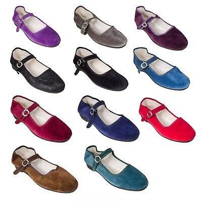 China Schuhe Samtschuhe Ballerinas  Trachtenschuhe Damenschuhe braun 35# bis 42#