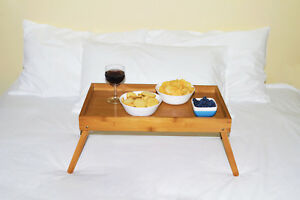 FOLDABLE-BAMBOO-BED-TRAY-Breakfast-Laptop-Desk-Tea-Serving-Table-Stand-Dinner