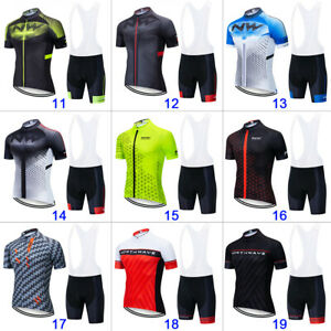 Men-Cycling-Jersey-Short-Sleeve-Road-Bike-MTB-Fast-Dry-North-Wave-Team-Kits-Set