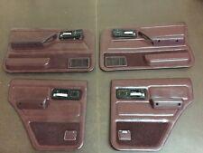 84-96 JEEP CHEROKEE OEM SET OF 4 DOOR PANELS POWER MAROON VERY  NICE! Rare!!