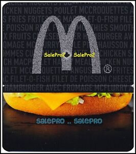 McDONALD-2013-CANADIAN-SILVER-MAPLE-LEAF-ARCH-BURGER-COLLECTIBLE-GIFT-CARD