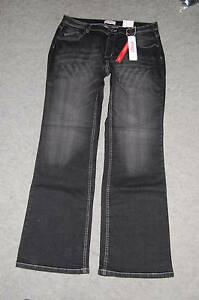 Must-Have-Bootcut-Jeans-black-denim-Gr-48-Sheego-NEU