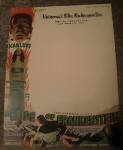 Universal Film Exchanges Business Letterhead Bride Of Frankenstein Mint...