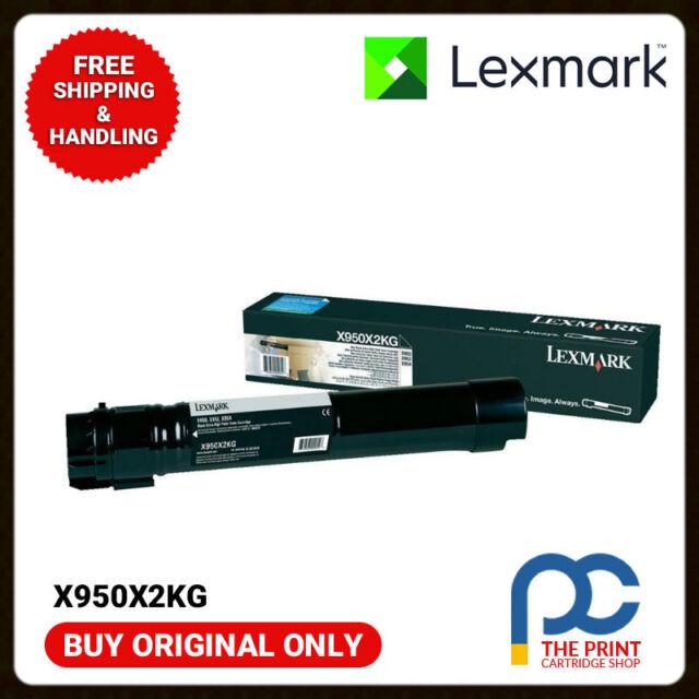 New & Genuine Lexmark Black Toner Lexmark X950X2KG X950 X952 X954