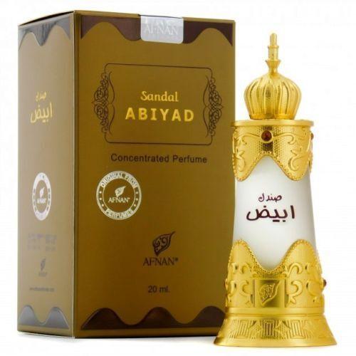 Sandal Abiyad by AFNAN Perfumes Dubai Concentrated Perfume Oil 20ml Unisex Attar