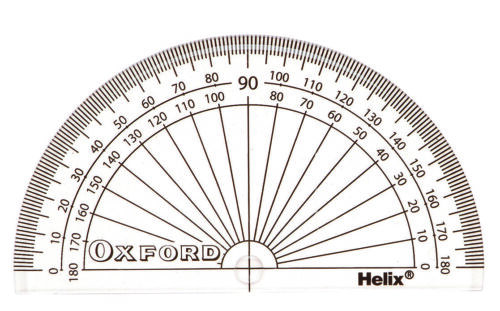 H01011 Helix Oxford Klar 10cm 180 Grad Schule Mathe Übertragung Winkelmesser