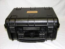 New Waterproof Travel Black ArmourCase includes Pelican 1200 case nameplate