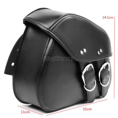 PU Leather Saddlebag For Yamaha V-Star XVS 650 950 1100 Classic Custom Silverado