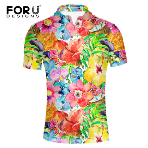 Fashionable Men/'s Shirt Casual Summer Short Sleeve Stand Collared Pique T-Shirt