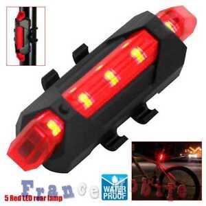 Lumiere-Eclairage-Arriere-Velo-Eclairage-5-LED-lumiere-Bicyclette-Etanche-Rouge
