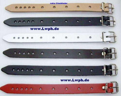 5 cuero universal-correas de cuero blanco 2,0 x 24,0 cm de largo cochecito colgadores