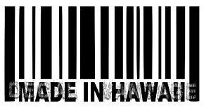 Made-In-Hawaii-Barcode-Vinyl-Sticker-Decal-Islander-Big-Choose-Size-amp-Color