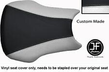 BLACK AND WHITE VINYL CUSTOM FITS HONDA CBR 600 RR3 RR4 03-04 SEAT COVER ONLY