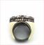 thumbnail 3 - MCL Matthew Campbell Laurenza Sapphire Enamel Retro Ring Sterling Silver Sz 5.5