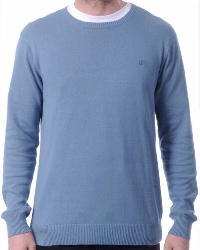 New DC Shoes Men/'s Blue Casual Knit L//S Pullover Sabotage Crewneck Sweater $45
