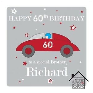 Personalised 60th Birthday Card Brother Dad Grandad Any Age Name