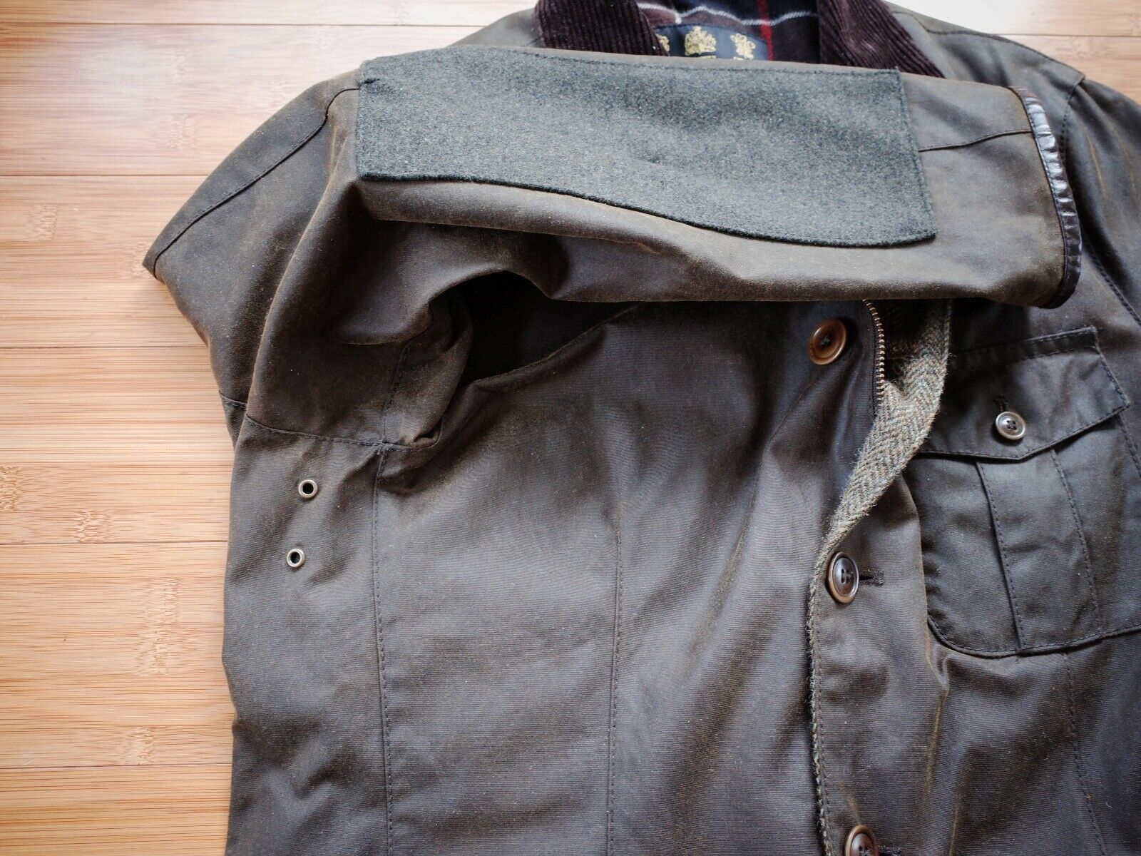 Barbour Dalkeith Wax Jacket – (size Small)  - image 9