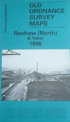 Old Ordnance Survey Map Renfrew North  /& Yoker Scotland 1896 Sheet 8.07 New Map