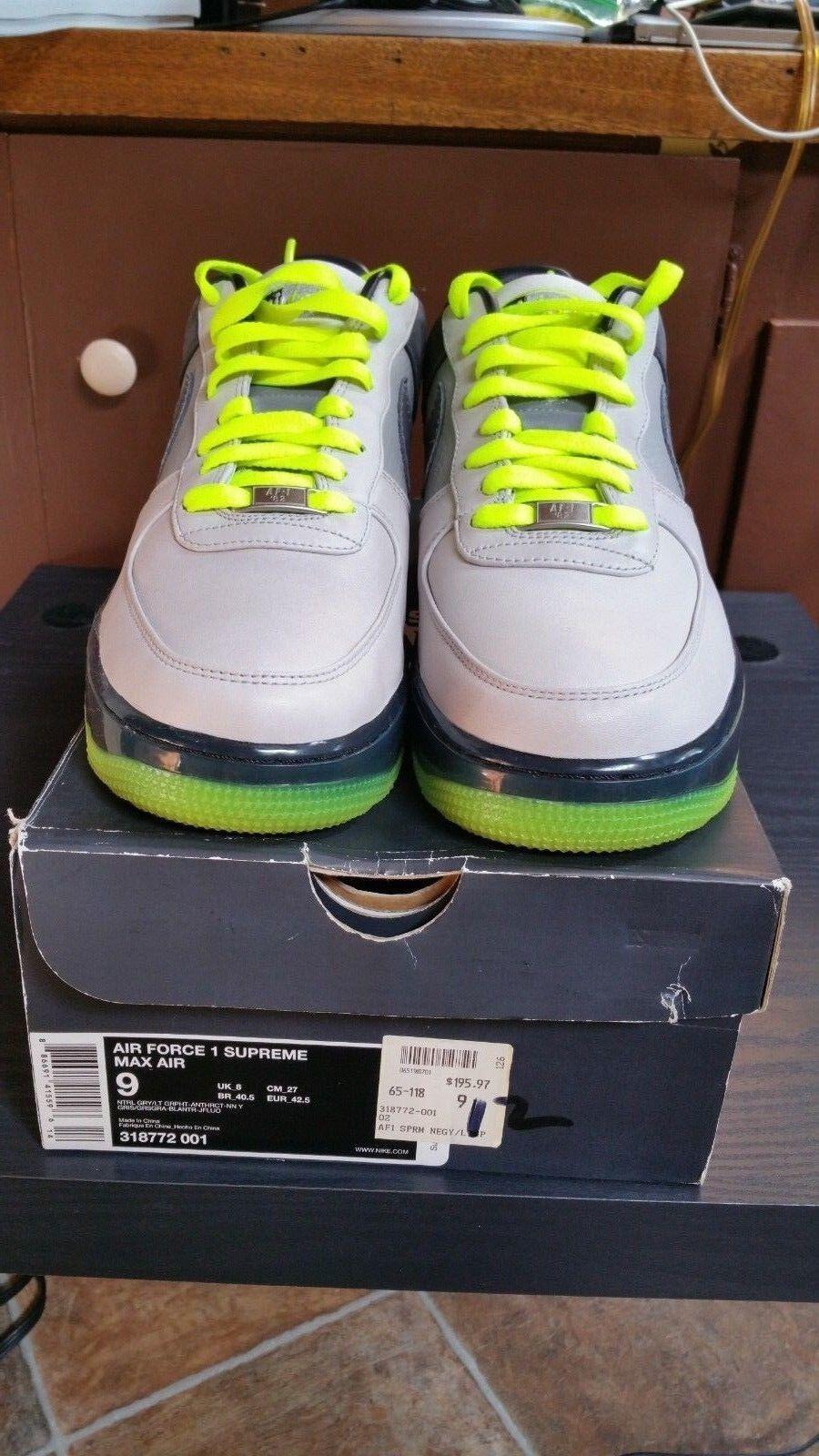 Men's Nike Airforce 1 AF1 supreme max air 318772-001 size 9 sprm Special limited time