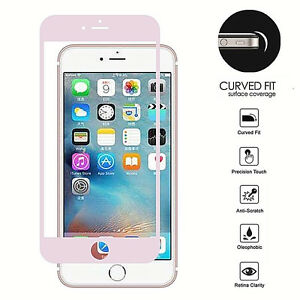 For-Iphone-7-Rose-Gold-Edged-FULL-Coverage-Screen-Tempered-Glass-Protector-Guard