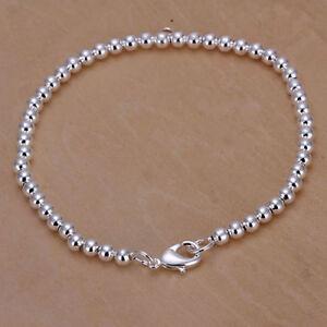 ASAMO-Damen-Armband-mit-kleinen-Kugeln-925-Sterling-Silber-plattiert-Schmuck