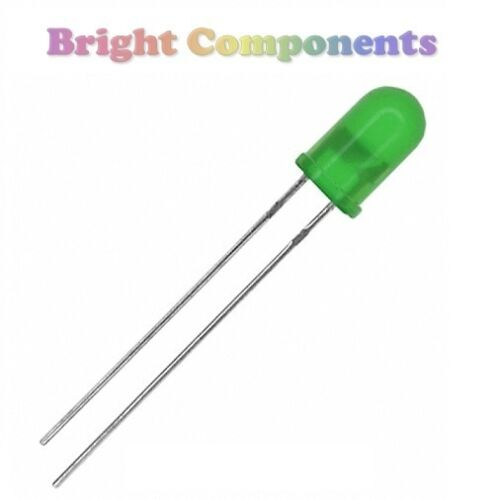 10 x Green LED 5mm Diffused 1st CLASS POST