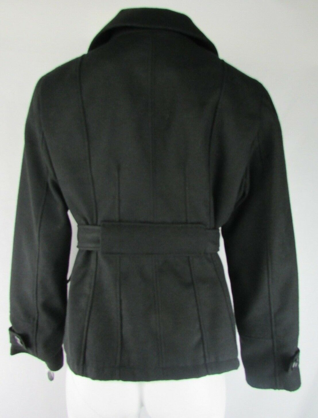 Maralyn & Me Belted Double-Breasted Pea Coat Coat Coat Size XS S M XL 6af8a3