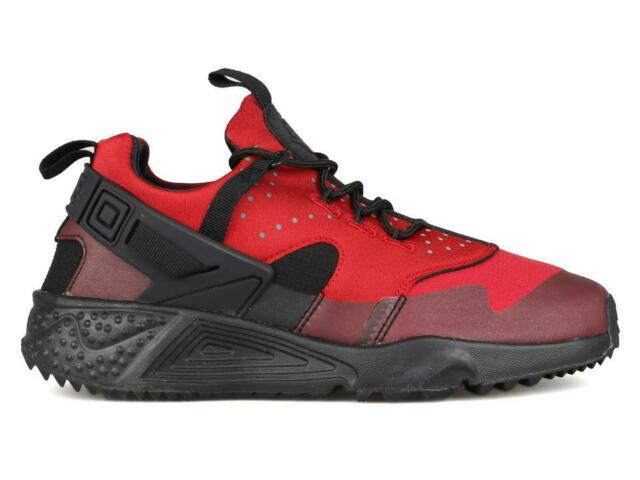 cc9cebe34472 Size 6.5 Nike Men Air Huarache Utility Running Shoes 806807 600 Gym Red  Black