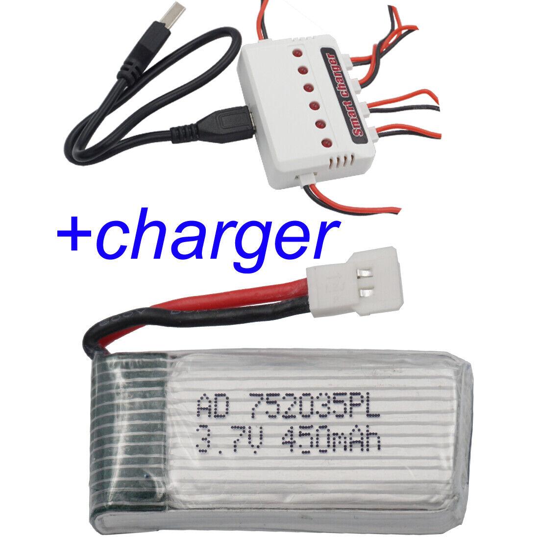 3.7V 450 mAh 25C XH 2.54 Polymer LiPo battery 752035 For SYMA X5C X5SC X5S Drone